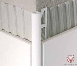 347-501-060/347-501-080/347-501-100. Barras 3,00 metros. PVC Branco - Quarter Circle Tile Trim PVC - Blanke